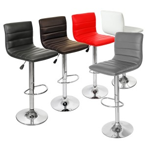 Ribble Bar Stool in Black, Brown, Red, White & Grey