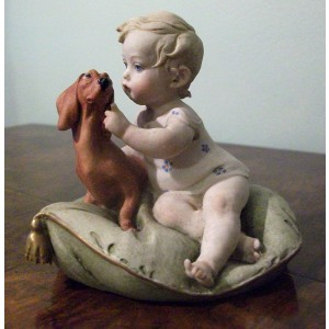 Little Friends (Child & Dachshund) by Giuseppe Cappé