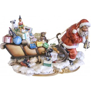 Santa Claus Pulling His Sleigh by Scapinello