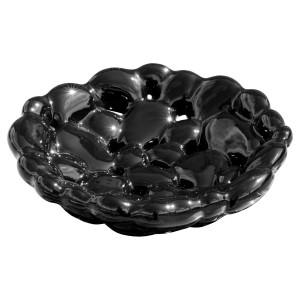 Ceramic Black Bubble Bowl
