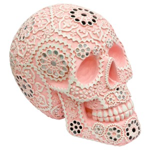 Decorative Model Skull in Pink
