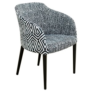 Brigida Tub Chair - Charbon Fabric