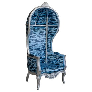 Porters Chair in Silver