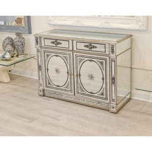 Mirrored Two Drawer, Two Door Sideboard