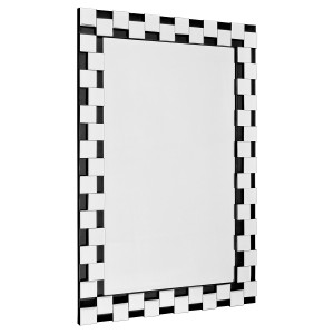 Black & Silver Block Edge Wall Mirror
