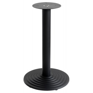 Round Black Matt Stepped Table Base