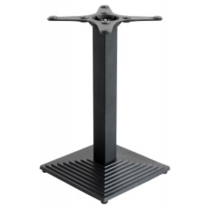 Square Black Matt Stepped Table Base