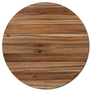 Round Table Top - Light Walnut - 60cm