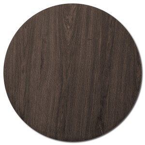 Round Table Top - Dark Walnut - 70cm