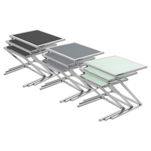 Glass Nest of Three Tables (Set of 3)