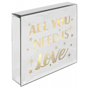 All You Need Is Love - Light Up Mirrored Plaque