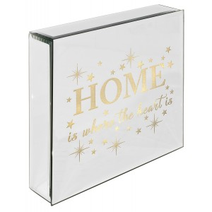 Home Is Where The Heart Is - Light Up Mirrored Plaque