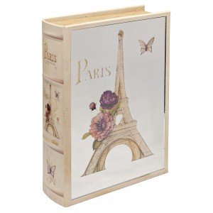 Mirrored Paris Storage Book Box - Mirrored Front Cover