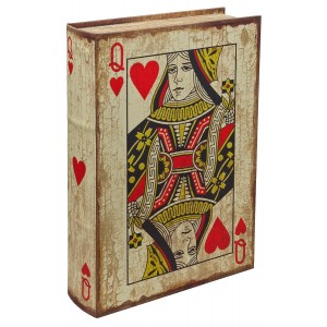 Playing Card - Queen of Hearts Storage Book Box