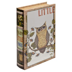 Mirrored Enjoy The Little Things Storage Book Box - Mirrored Front Cover