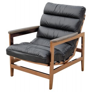 Cuba Leather Leisure Arm Chair
