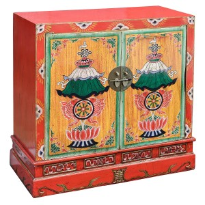 Oriental Style Red Cabinet