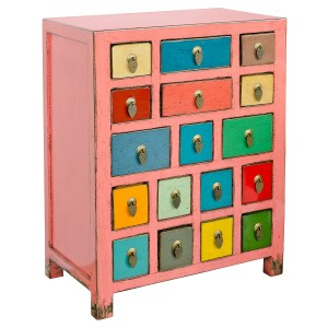 Multicoloured Side Cabinet
