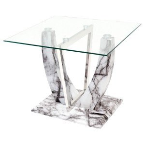 Jericho Marble Style Lamp Table