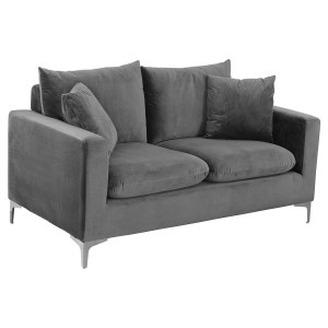 Jessica Grey Two Seater Sofa