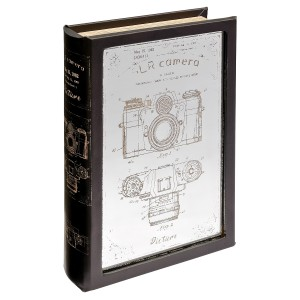 Mirrored Camera Storage Book Box - Front