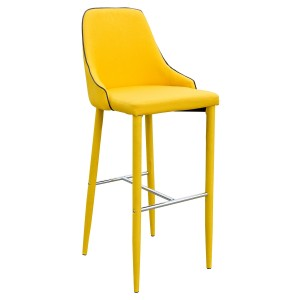 Duncan Bar Stool in Yellow Fabric