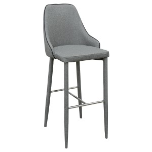 Duncan Bar Stool in Grey Fabric