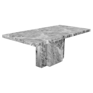 Newcastle Grey Marble Dining Table