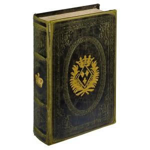 Gold Crown Storage Book Box - Front