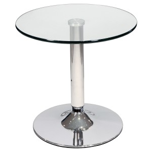 Glass Top Bistro Side Table