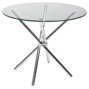 Criss - Cross Glass Dining Table