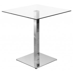 Square Clear Glass Bistro Table