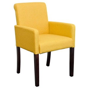 Sadie Linen Tub Chair in Mustard Yellow Fabric
