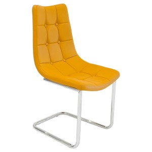 Menson Mustard Yellow Dining Chair - Front