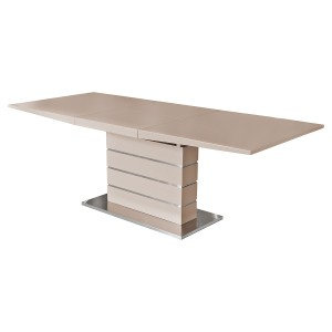 Taupe Matt Finish Extending Dining Table