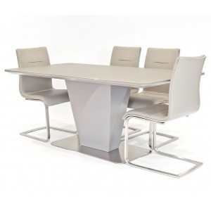 Talia taupe dining set with Jubilee dining chairs