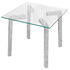 Clear Glass Lamp Table