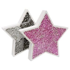 Mosaic Glass Standing Star Decoration