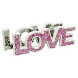 Mosaic Glass Standing Love Letters Decoration