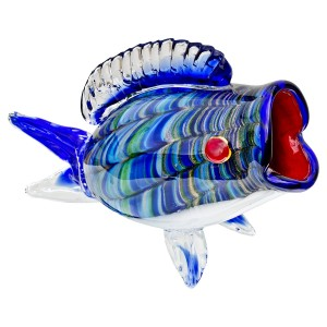 Glass Big-Mouth Blue Fish