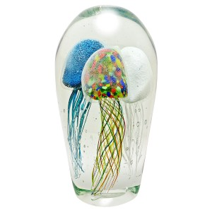 Glass Jellyfish Large Paperweight