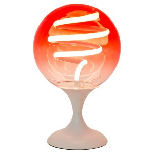 LED Spiral Red Globe Table Lamp