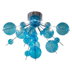 Blue Bauble Ceiling Light