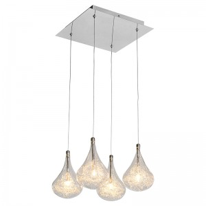 Pear Drop 4 Bulb Ceiling Light