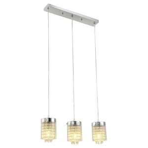Three Light Glass Shade Pendant Light