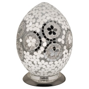 Mosaic Glass Egg Lamp - Mirrored Art Deco