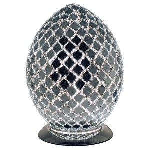 Mosaic Glass Egg Lamp - Mirrored