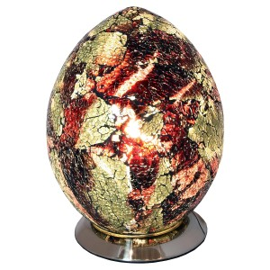 Mosaic Glass Egg Lamp - Amber