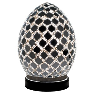 Mini Mosaic Glass Egg Lamp - Mirrored Tile