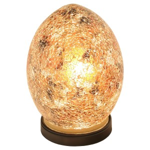 Mini Mosaic Glass Egg Lamp - Yellow